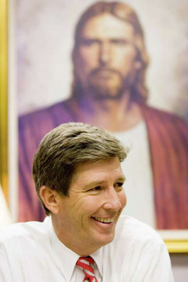 "Gifford Nielsen, a former Houston Oiler and TV sportscaster, serves the church in Houston as a regional leader known as an ""area seventy."" Photo: Brett Coomer, Houston Chronicle / Houston Chronicle"