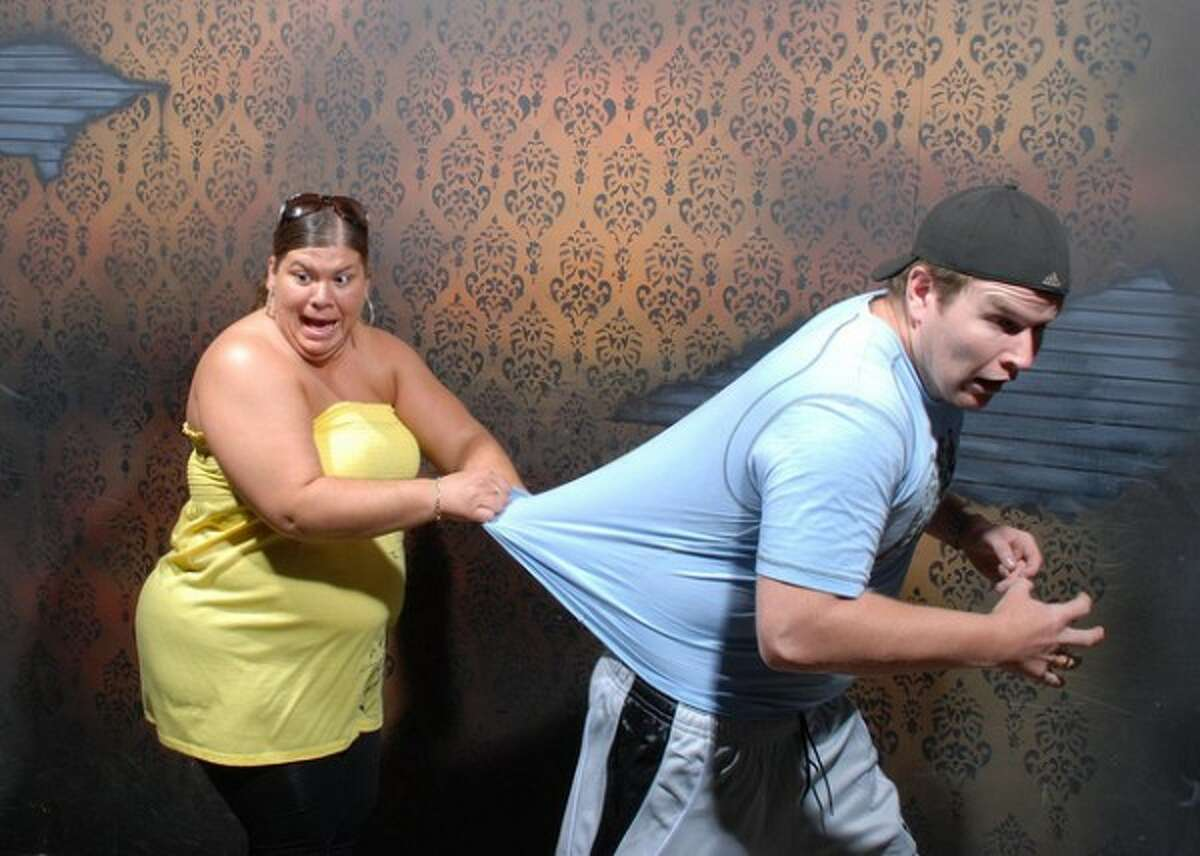 Thousands of teens - mostly boys - have paid admission to the Nightmares Fear Factory, a haunted house in Niagara Falls, Canada, to be scared witless, and judging from the photos taken by a hidden camera, they got their money's worth. Here are a few of the shots that are going viral on the web. You can see more at Nightmares Fear Factory's Flickr site.