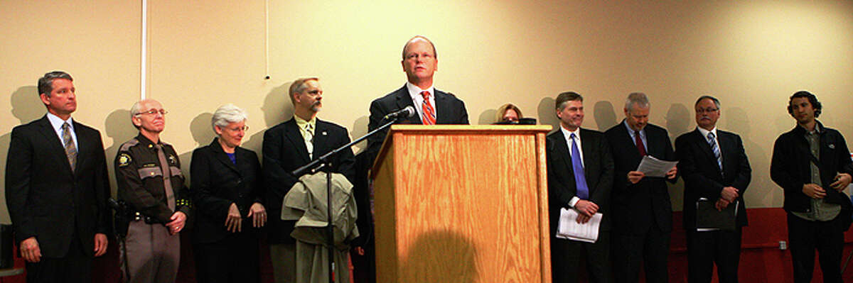 King County Prosecutor Dan Satterberg, center, pictured at the Millionaire Club Charity.
