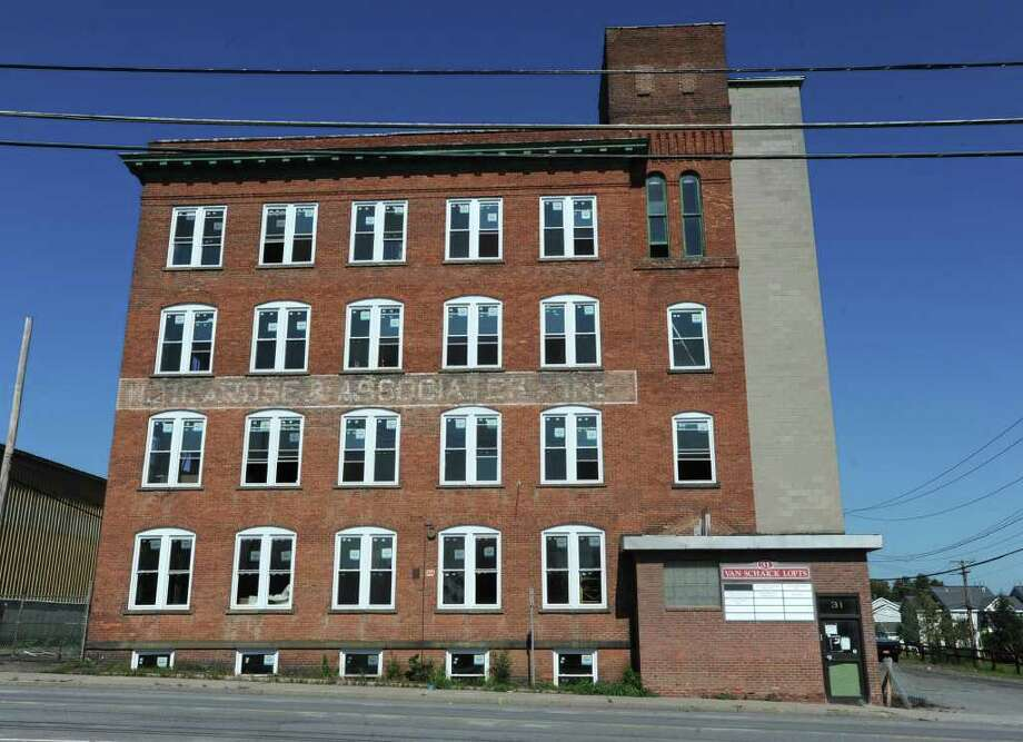 Exterior Of An Old Warehouse At 31 Ontario St In Cohoes NY Which Is