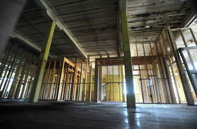 Interior of an old warehouse at 31 Ontario St. in Cohoes, N.Y. which is being renovated into 40 luxury loft apartments called the Van Schaik Lofts Monday, Sept. 26, 2011. (Lori Van Buren / Times Union) Photo: Lori Van Buren