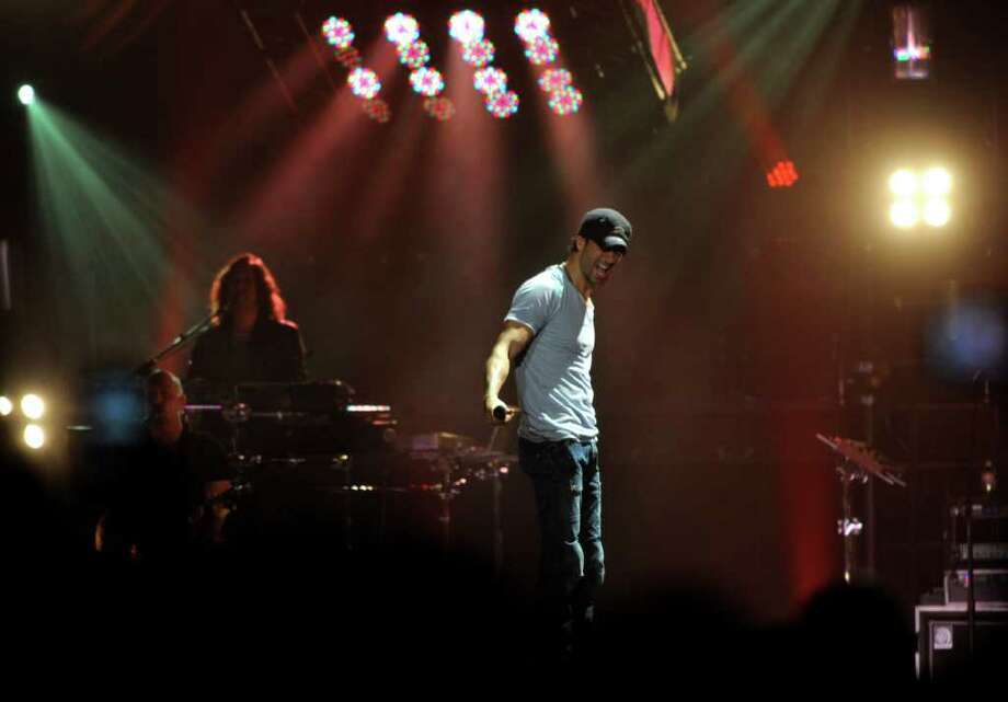 "Enrique Iglesias performs during his ""Euphoria"" tour at the AT&T Center on Thursday, Oct. 13, 2011. Photo: Billy Calzada/gcalzada@express-news.net / gcalzada@express-news.net"