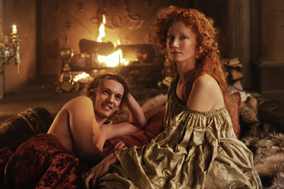 """Jamie Campbell Bower as Earl of Oxford and Joely Richardson as Queen Elizabeth I in """"Anonymous."""" Photo: Reiner Bajo / © 2011 Columbia TriStar Marketing Group, Inc. All Rights Reserved."""