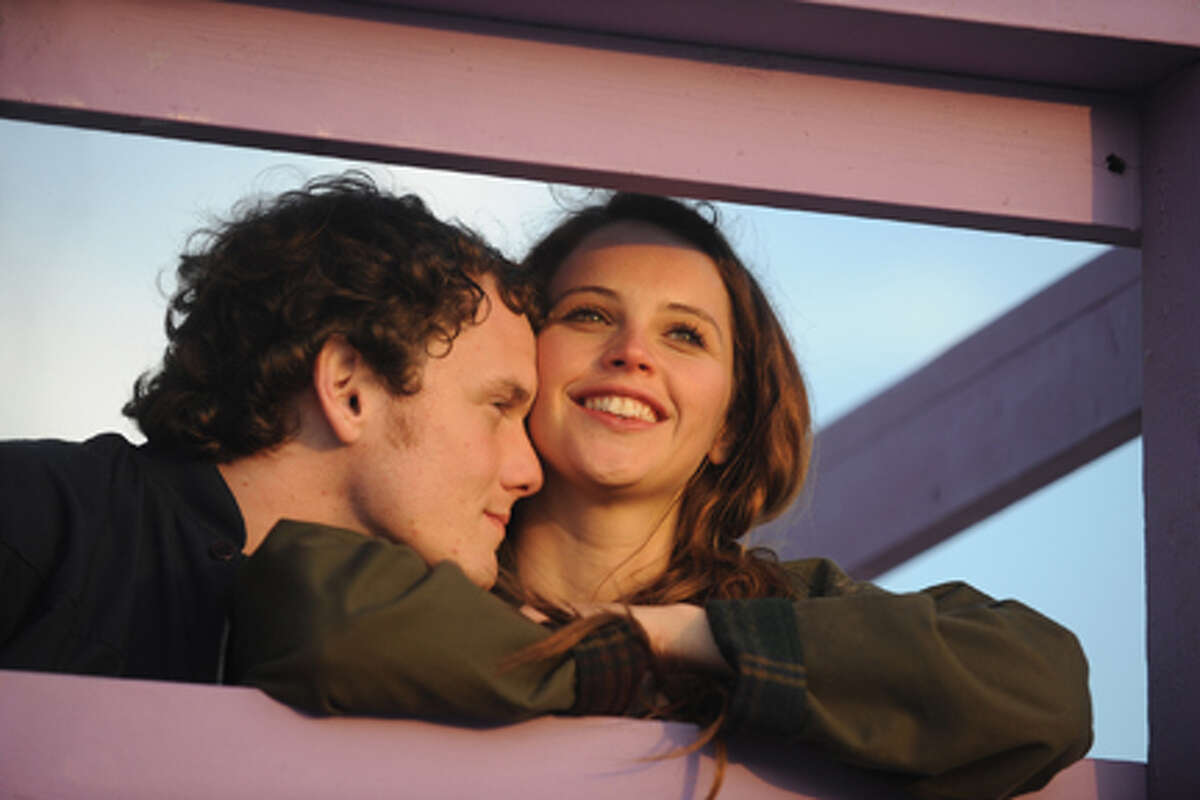 Anton Yelchin as Jacob and Felicity Jones as Anna in