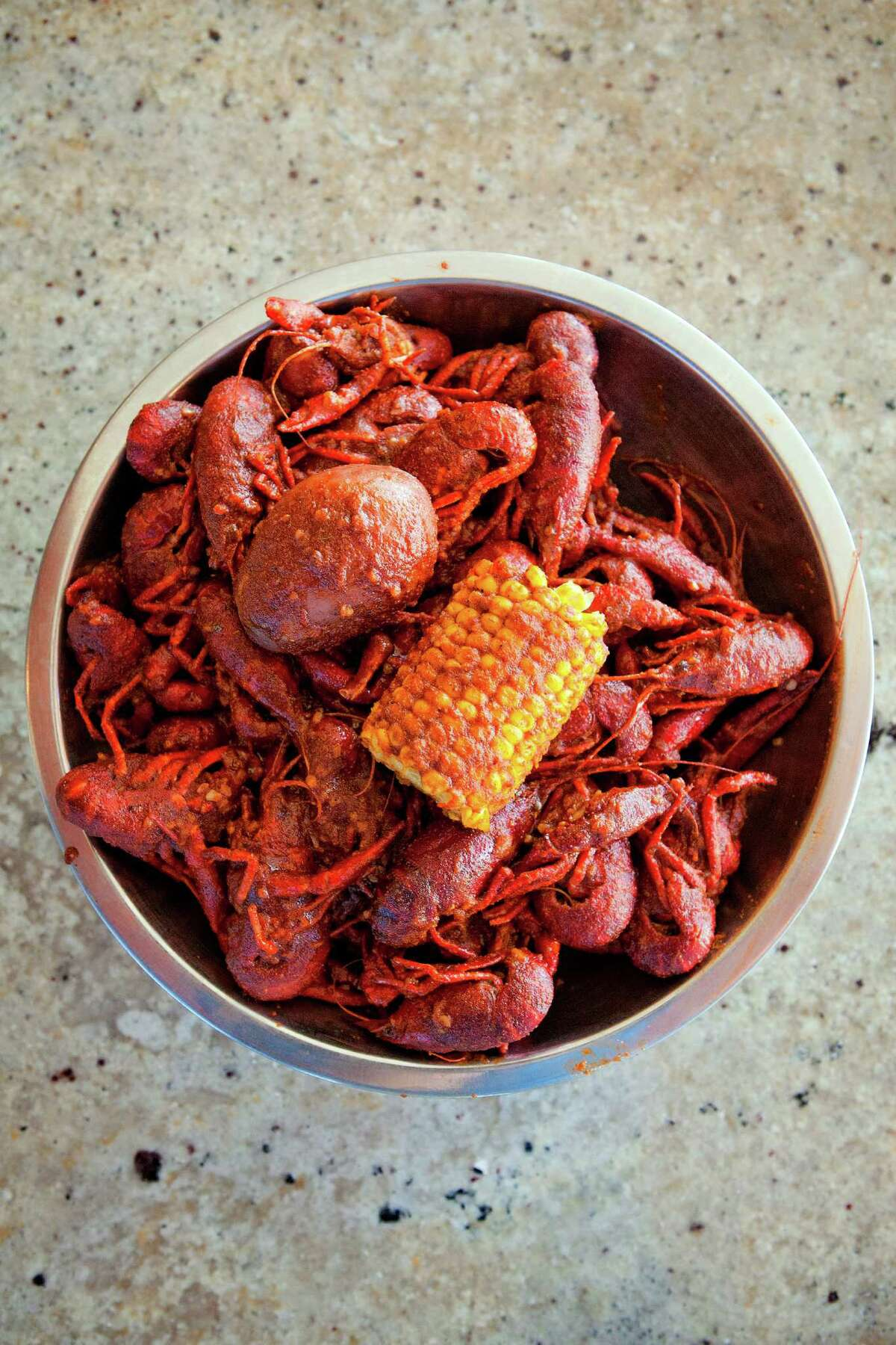 A bowl of fresh crawfish is seen, Monday, May 16, 2011, at Crawfish and Noodles restaurant in Bellaire, Texas. (Todd Spoth for The Chronicle)