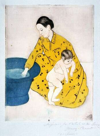 """The Bath,"" from an 1891 suite of prints by American artist Mary Cassatt, shows the influence of Japonism in its composition, colors and perspective. Photo: Courtesy McNay Art Museum"