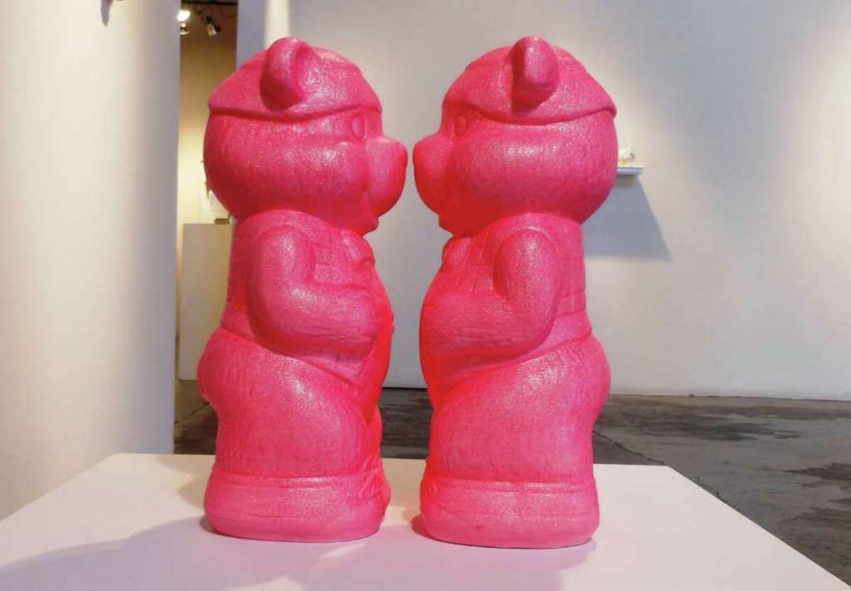 """""""lipstick lover"""" is a ceramics piece in Wesley Harvey exhibition """"afternoon delights"""" at Joan Grona Gallery."""