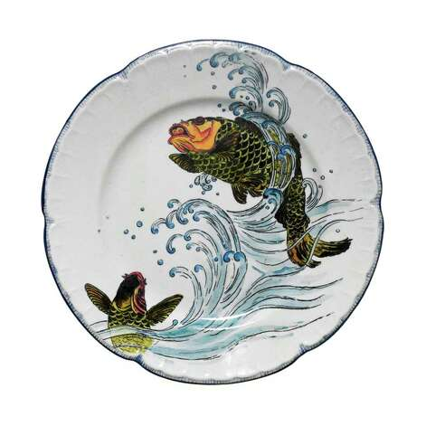 """Japanese Fantasy,"" an Escalier de Cristal plate (circa 1875-1900, Paris) is featured in ""The Orient Expressed"" at the McNay. Photo: Courtesy McNay Art Museum"