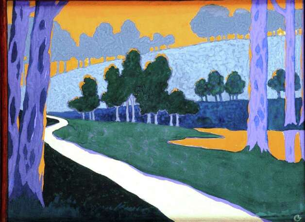 "French artist Georges Lacombe's gouache on paper 1894 ""Landscape"" is featured in ""The Orient Expressed: Japan's Influence on Western Art 1854-1918"" at the McNay Art Museum. Photo: Courtesy McNay Art Museum"