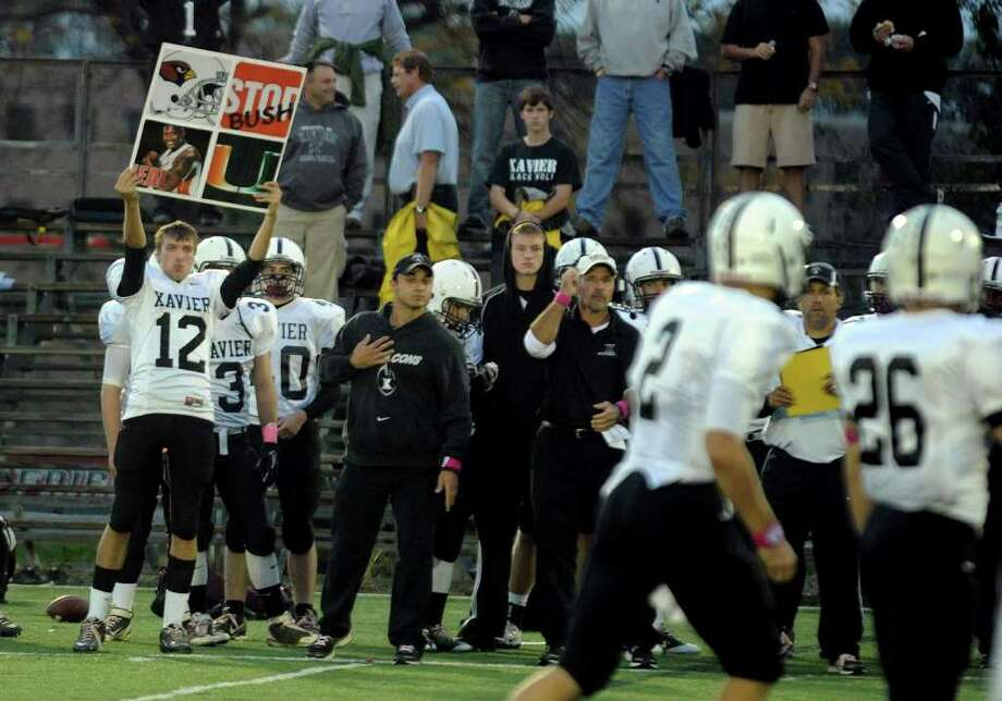 Highlights from boys football action between Fairfield Prep and Xavier at Fairfield University in Fairfield, Conn. on Friday October 14, 2011. Photo: Christian Abraham / Connecticut Post