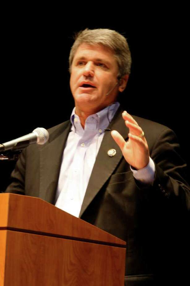 10th District U.S. Rep. Michael McCaul (R-Austin) hosted a health care town hall meeting from 9 a.m. - 10:30 a.m. September 4 at the Merrell Center. Photo: Suzanne Rehak / Freelance