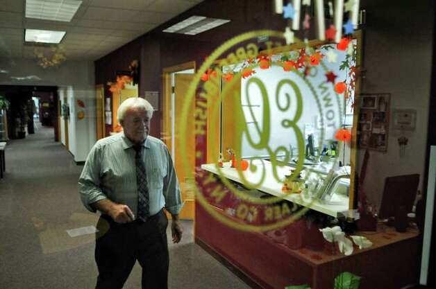 East Greenbush town supervisor Rick McCabe heads back to his office in town hall on Wednesday Oct. 12, 2011 in East Greenbush, NY. ( Philip Kamrass / Times Union) Photo: Philip Kamrass / 00014947A