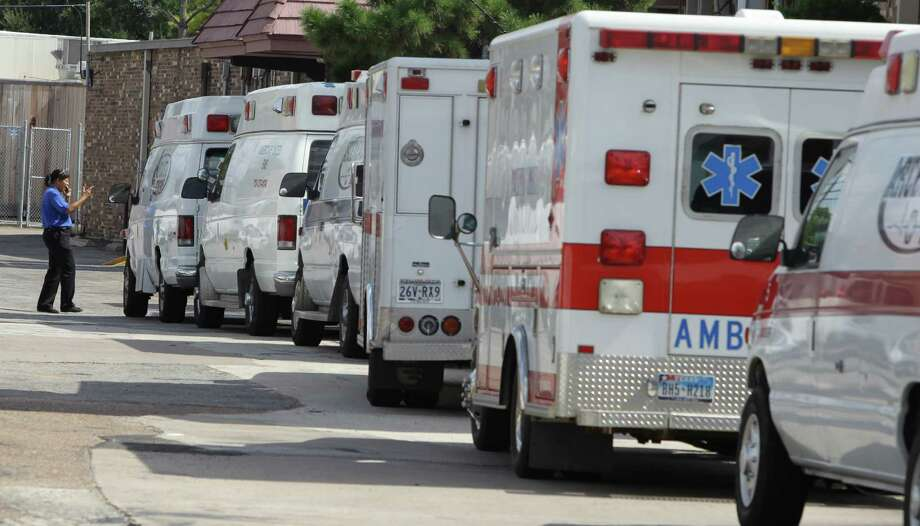 Ambulances line up for patient transport. Ambulance services billed to Medicare are under scrutiny, as a national audit found a rapid rise in costs and questionable billings that may be fraud. Photo: Nick De La Torre, Staff / Houston Chronicle