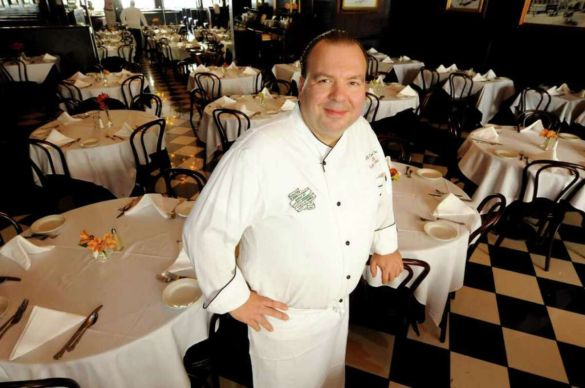 Chef Larry Schepici on Tuesday, Oct. 11, 2011, at Jack's Oyster House in Albany, N.Y. (Cindy Schultz / Times Union)