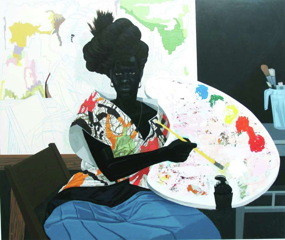 Kerry James Marshall (b. 1955) Untitled 2009 acrylic on pvc 61 1/8 x 72 7/8 x 3 7/8 inches (Courtesy of the artist and Jack Shainman Gallery, New York)