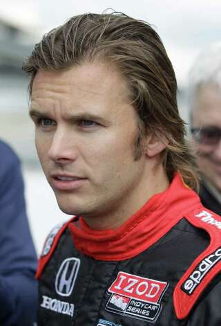 Drive Dan Wheldon talks about the 2012 IndyCar at the Indianapolis Motor Speedway in Indianapolis, Tuesday, Sept. 27, 2011. The car will make its debut in St. Petersburg, Fla., at the first race of the new season. (AP Photo/Darron Cummings) Photo: Darron Cummings, STF / AP