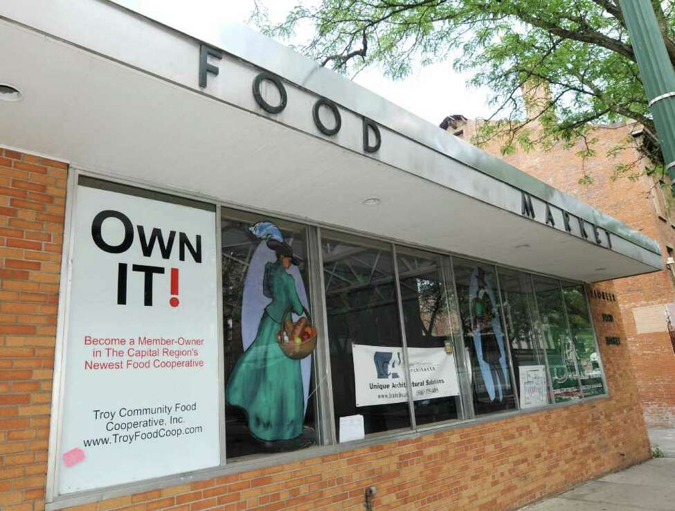 Exterior of the new Troy Community Food Cooperative, Inc. at 77-81 Congress St. in downtown Troy, NY, on Monday, July 5, 2010. The space is the former Pioneer Market, and is currently being renovated to house the new Coop. (Luanne M. Ferris / Times Union)