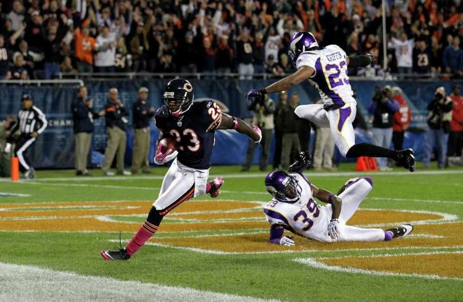 Oct. 16: Bears 39, Vikings 10. Chicago Bears wide receiver D