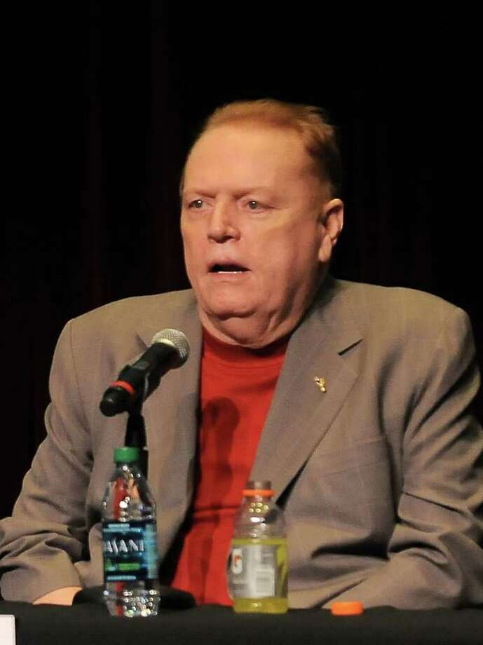 FILE - In this April 30, 2011 file photo, Larry Flynt speaks at The Los Angeles Times Festival of Books at USC in Los Angeles, Calif. Flynt's brother is suing him in Ohio for $20 million, saying he was wrongly fired from his job at Flynt's pornography company. Jimmy Flynt says his brother stopped paying him his $250,000 annual salary in 2009 as part of an effort to squeeze him out of the business. (AP Photo/Katy Winn, file) Photo: Katy Winn