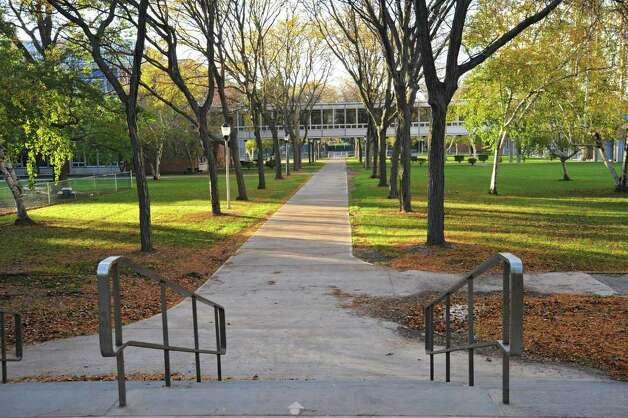 Walking paths through the Harriman Campus in Albany, N.Y. Monday Oct. 17, 2011. Lori Van Buren / Times Union) Photo: Lori Van Buren