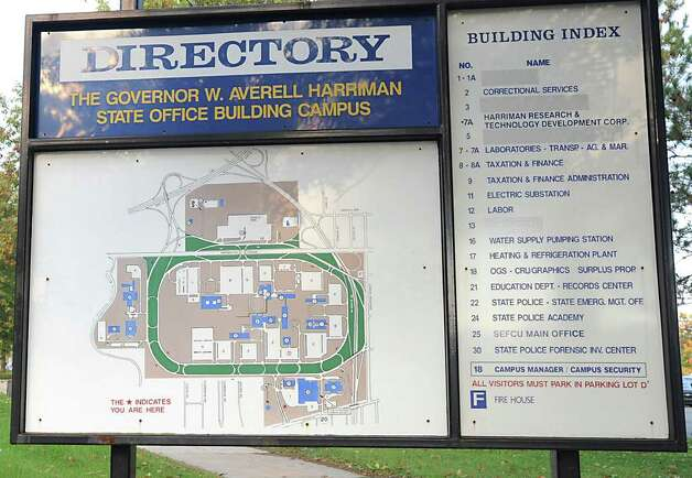 Directory for The Governor W. Averell Harriman  State Office Building Campus in Albany, N.Y. Monday Oct. 17, 2011. Lori Van Buren / Times Union) Photo: Lori Van Buren