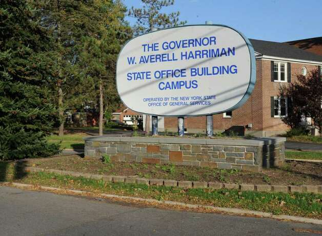 Sign for The Governor W. Averell Harriman  State Office Building Campus in Albany, N.Y. Monday Oct. 17, 2011. Lori Van Buren / Times Union) Photo: Lori Van Buren
