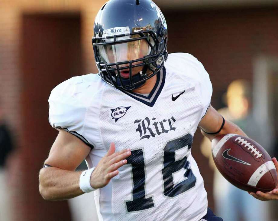 Rice quarterback Taylor McHargue could start against the Cougars. Photo: Mark Webb / The Herald-Dispatch