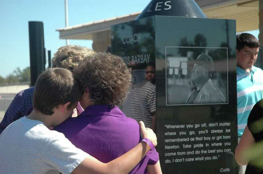 Scenes from the unveiling of the Curtis Barbay monument. Photo: Jimmy Galvan