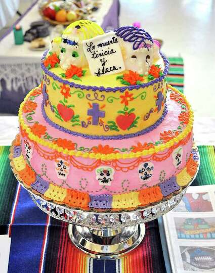 This cake by Homemade Fine Cakes was one of the entries in the first ever Day of the Dead cake conte