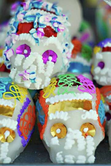 Sugar skulls are some of the items sold outside the old municipal cementary in Nuevo Laredo in obser