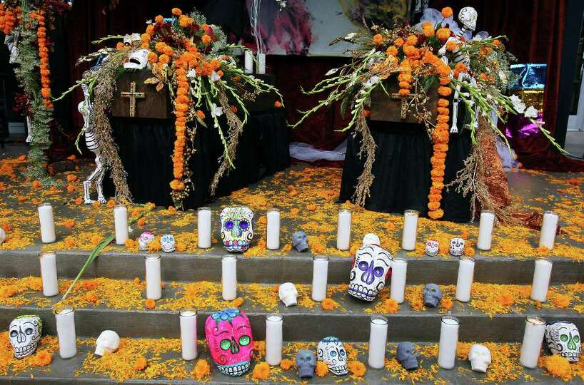 A view of the Museo Alameda's altar honoring lost loves part of their