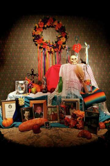 A El Dia de los Muertos altar is at Holy Rosary Catholic Church, Thursday, November 1, 2007.  More a