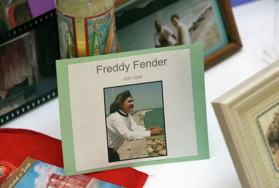 Musical performer Freddy Fender is remembered on the El Dia de los Muertos altar built by the staff of the Mexican-American Cultural Center Wednesday October 31, 2007. Photo: Robert McLeroy, San Antonio Express-News / San Antonio Express-News