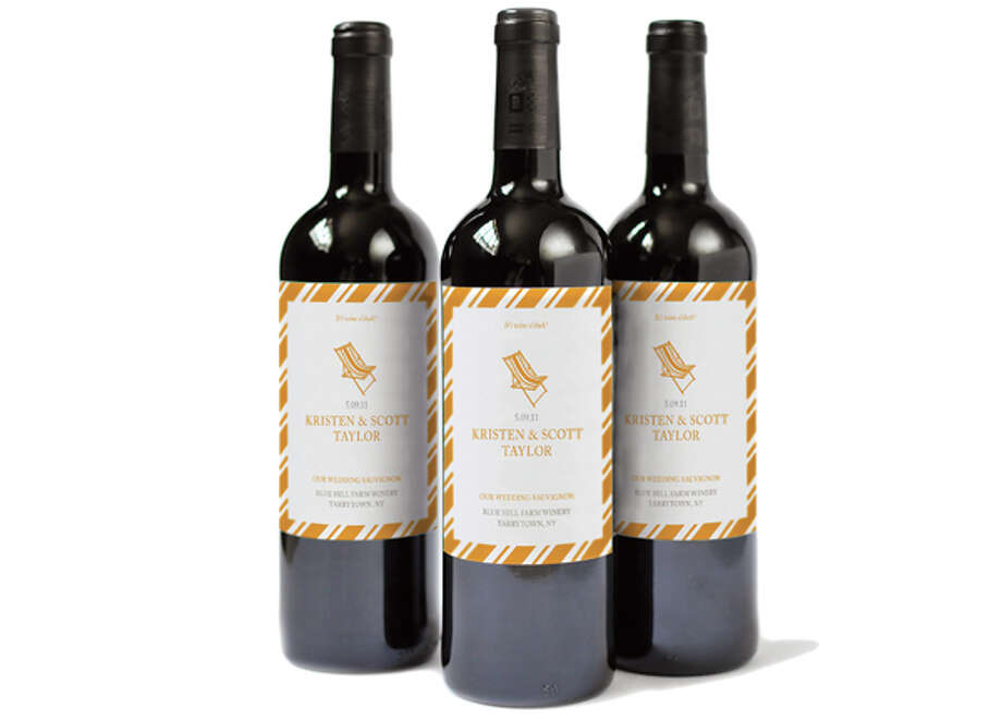 1. Personalized Wine Labels