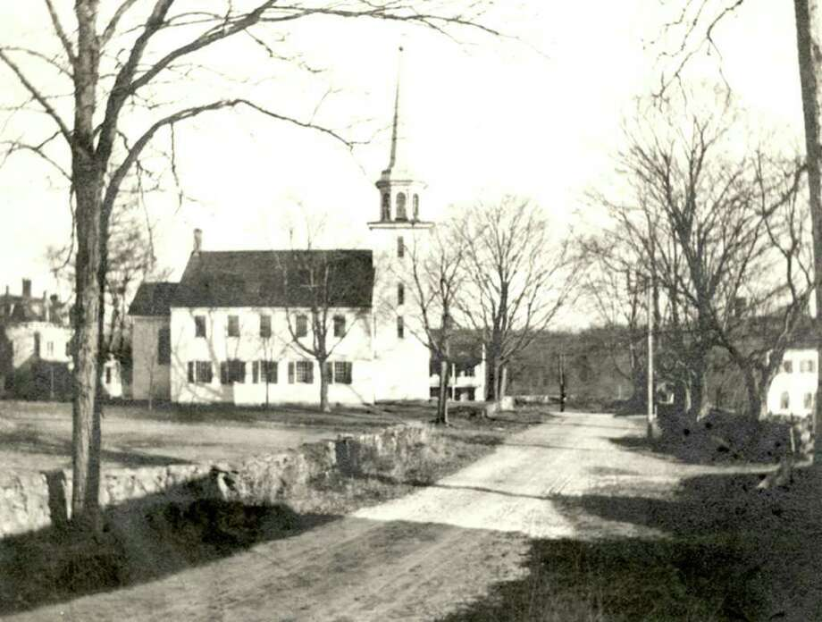 It's hard to believe, but the Stanwich Congregational Church in 1850, above, was already more than 100 years old. Photo: Contributed Photo