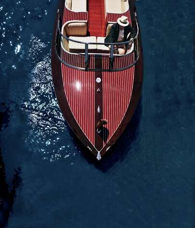 A Neiman Marcus edition Hacker-Craft speedboat. Photo: Courtesy Neiman Marcus