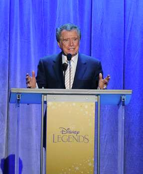 ANAHEIM, CA - AUGUST 19:  Television personality Regis Philbin speaks after being inducted to the Disney Legends during the D23 Expo 2011 at the Anaheim Convention Center on August 19, 2011 in Anaheim, California.  (Photo by Michael Buckner/Getty Images) Photo: Michael Buckner, Getty Images / 2011 Getty Images