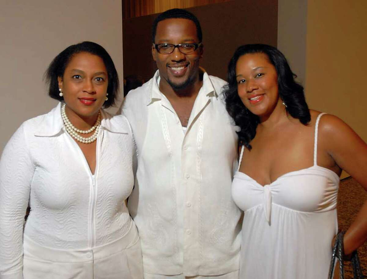 Laurie Robinson with Everett and Angelina Blaylock at the African American Art Advisory Association's