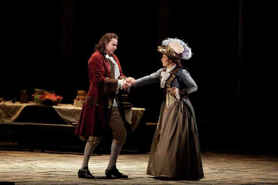 "Peter Mattei in the title role and Barbara Frittoli as Donna Elvira in Mozart's ""Don Giovanni."" Photo: Contributed Photo"