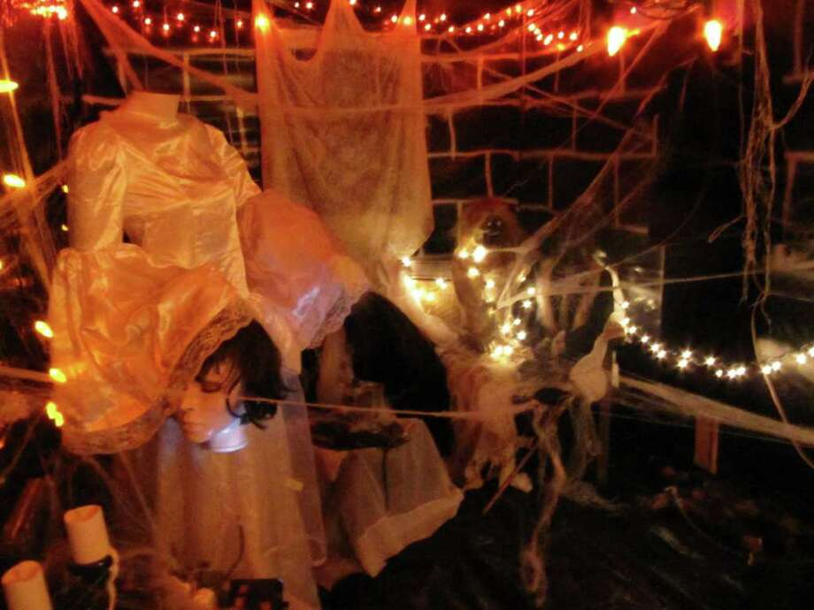 Pictured is the headless bride's room inside the haunted house at Izzo & Sons Country Garden, 1431 Post Road E. Admission to the haunted house is free. It is open every day in October from 8 a.m. to 5 p.m. Photo: Kirk Lang / Westport News contributed