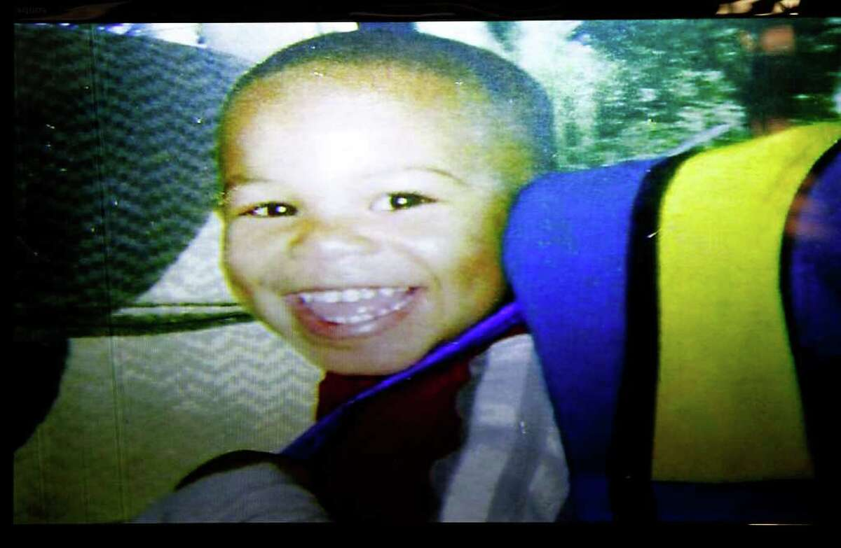 MISSING: This photo of Kendrick Jackson, 3, was shown to jurors Wednesday in the trial of his father. Roderick Fountain is charged with killing the boy. His body has never been found.
