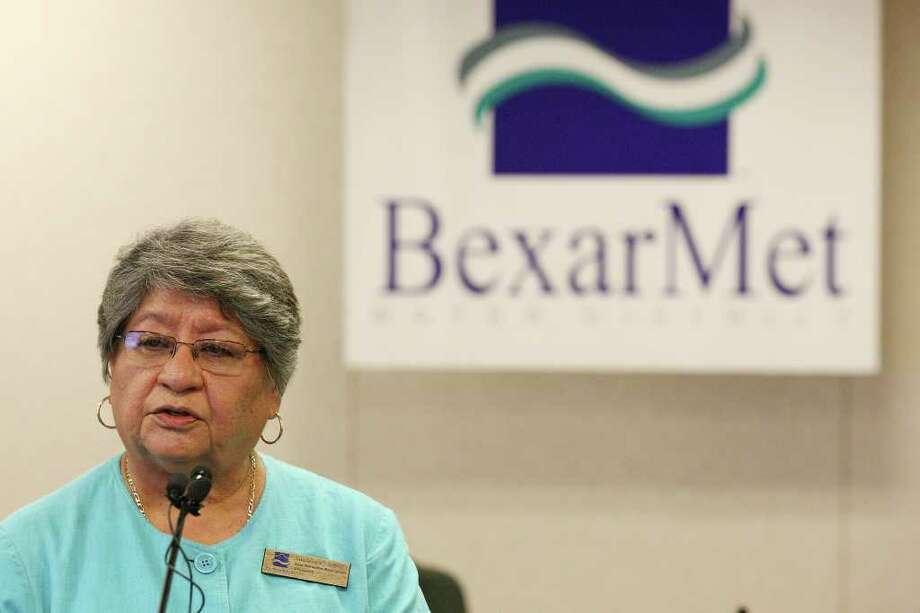 Bexar Metropolitan Water District board president Guadalupe Lopez speaks during a June 27 press conference on the federal lawsuit, filed at the time to stop the dissolution election for the district. Photo: EDWARD A. ORNELAS, SAN ANTONIO EXPRESS-NEWS / © SAN ANTONIO EXPRESS-NEWS (NFS)