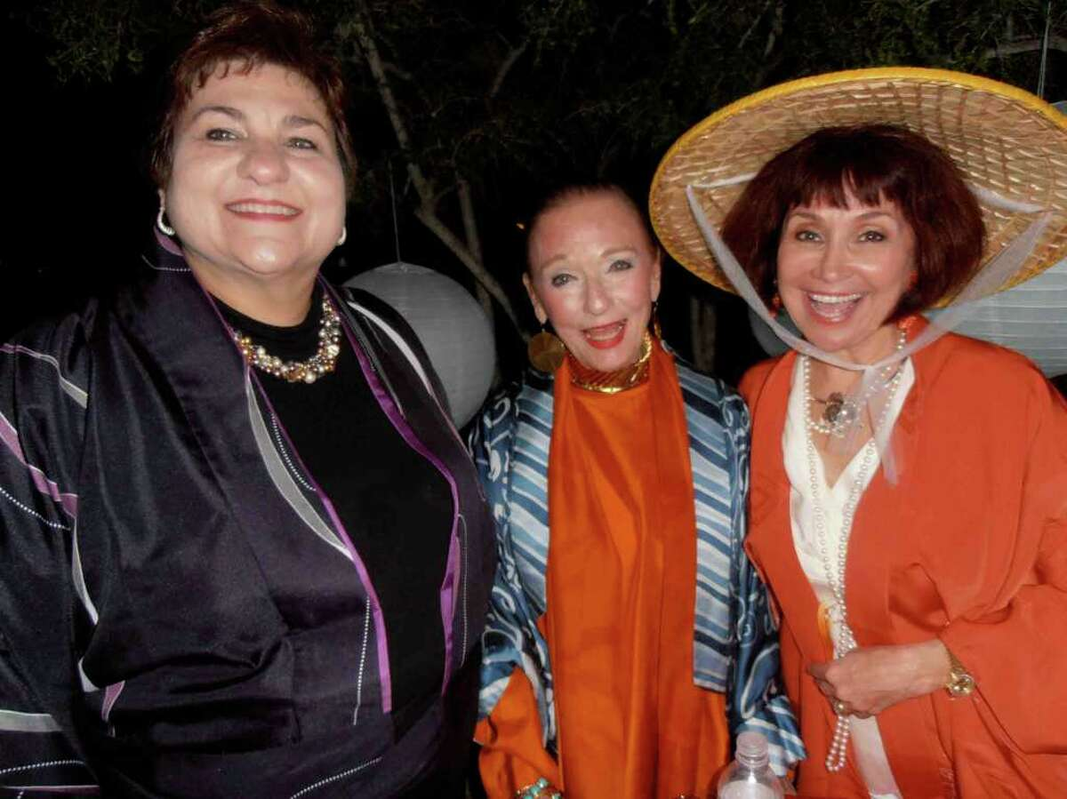 """NANCY COOK-MONROE JAPANESE TEA GARDEN SUPPORTERS: Event co-chairs Mary Jane Verette, from left, and Claire Golden enjoy """"Sushi and Sake"""" with Friends of the Park President Marcie Ince."""