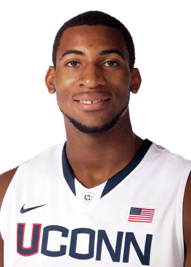 This Sept. 24, 2011 photo released by the University of Connecticut Athletic Department shows men's basketball player Andre Drummond.  (AP Photo/University of Connecticut Athletic Department) Photo: Associated Press / Associated Press