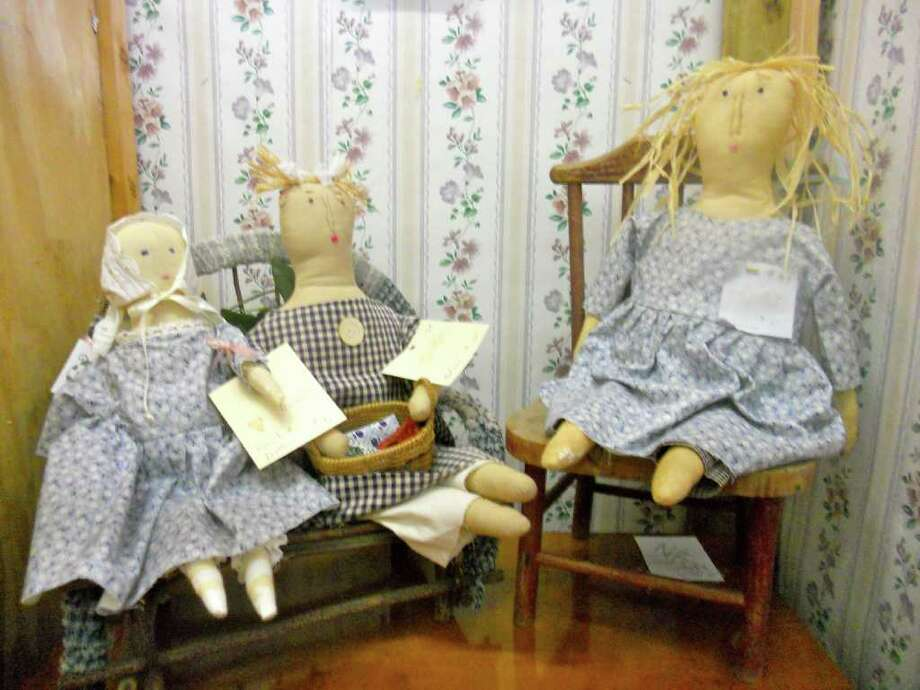 1805 Blanco Road: Handmade, primitive dolls (from left) Caroline, $6, Edna, $16, Alana, $20,  can be found at Ivy House Market.