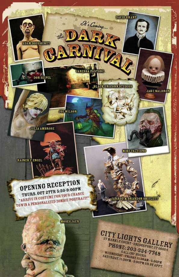 """Downtown Bridgeport celebrates Halloween on Thursday, Oct. 27, with three events, including the opening of """"The Dark Carnival"""" at City Lights Gallery. Photo: Contributed Photo"""