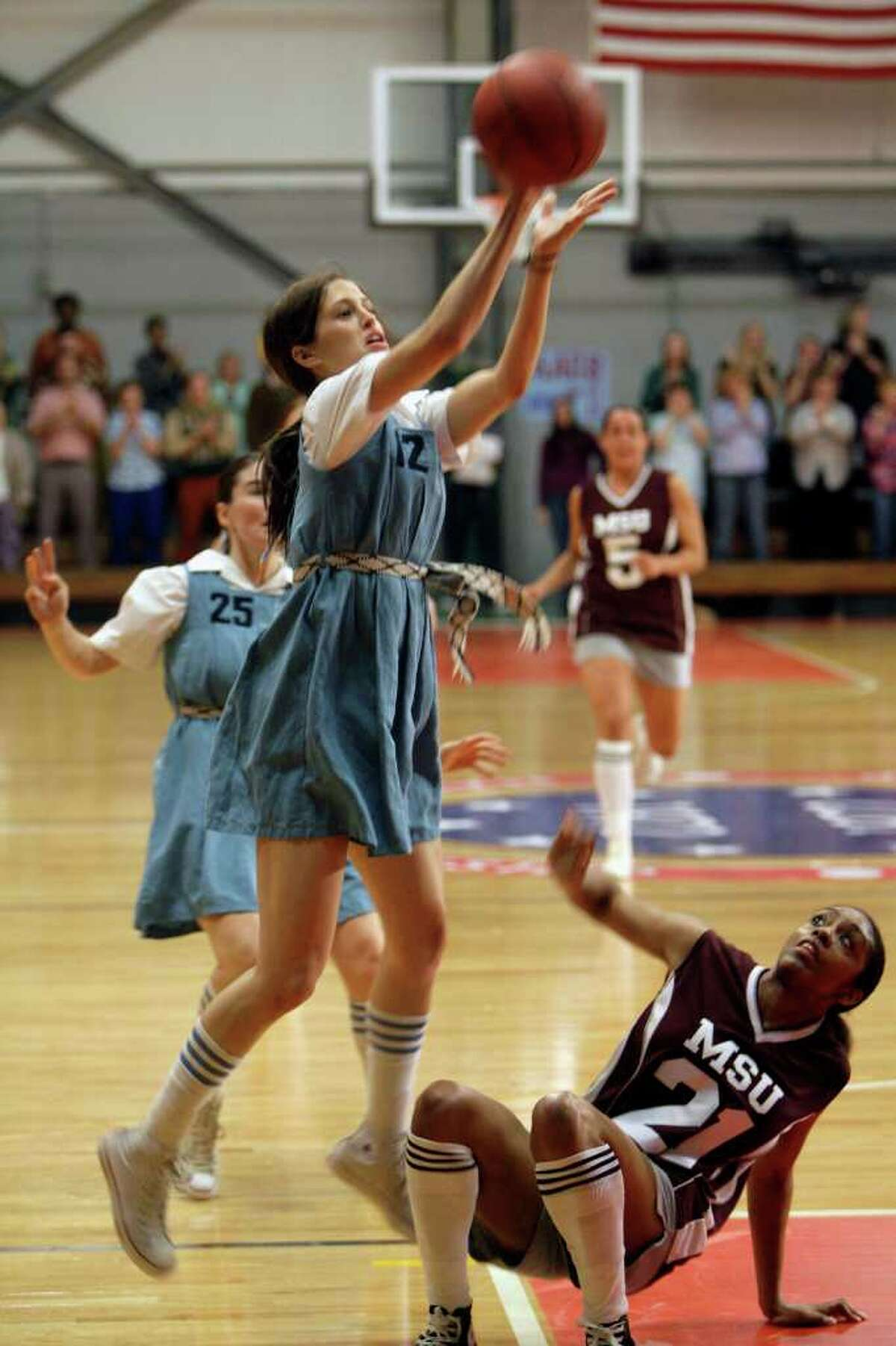 ASSOCIATED PRESS LEGENDARY: Trish (Katie Hayek) and her Immaculata College teammates make history in The Mighty Macs.