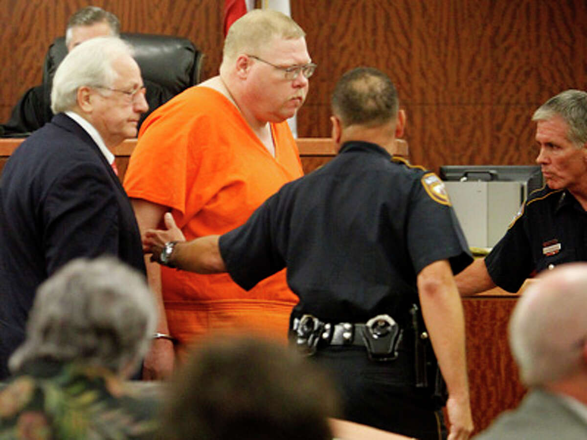 Crosby's Steven Alexander Hobbs, 40, shown in court on Wednesday, is accused in a murder of a woman found near hishome. (Photo by Karen Warren, Chronicle)