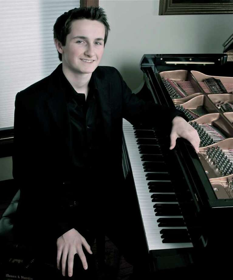 Pianist Alex Beyer, 17, will play Saturday, Nov. 5, at Pequot Library, Southport. Photo: Contributed Photo