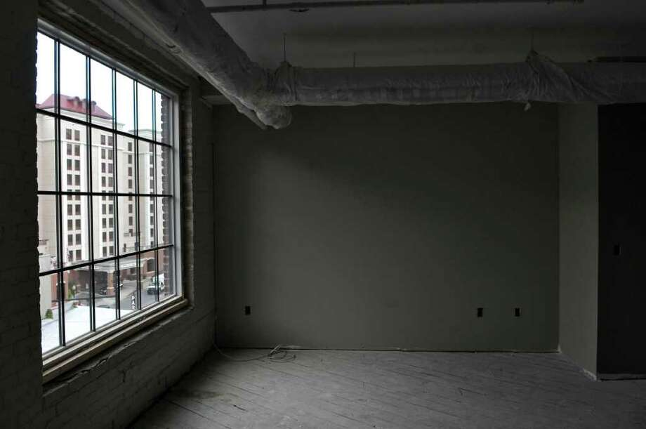 View of a building being converted into apartments at 4-6 Sheridan Avenue, on Tuesday Oct. 18, 2011 in Albany, NY.  (Philip Kamrass / Times Union ) Photo: Philip Kamrass / 00015025A